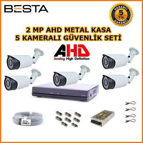 Güvenlik kamerası sistemi seti